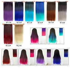 """<b>Alileader Synthetic Hair Clip</b> in Hair Extensions 5 Clips 22"""" 55cm ..."""