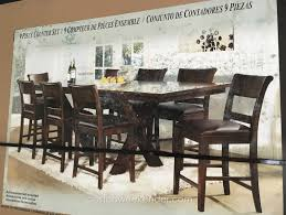 dining table set 9 piece. extraordinary counter height 9 piece dining set in santeelah 7piece table furniture costco r