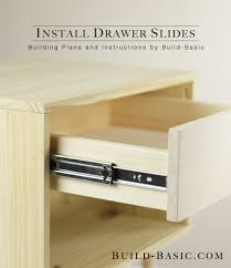 how to install drawer slides building plans by buildbasic build basic