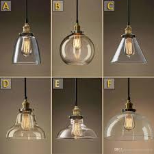 vintage chandelier diy led glass pendant light edison lamp commercial fixtures large lightingn globe