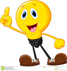 Light Bulb Symbol Copy And Paste Cartoon Light Bulb With Smiling Face And Hands With Bright