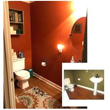 burnt orange bathroom rugs inspiration