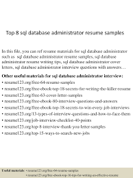 Sql Dba Sample Resume Free Resume Example And Writing Download