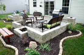 backyard paver patio designs square patio designs use white stone and metal outdoor sets with simple backyard paver patio designs
