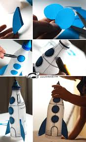 plastic bottle rocket as a piggy bank this would be perfect for learning about the space coast we would need to paint the bottles white with acrylic
