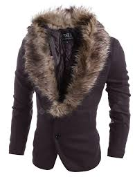 5978P95 Classic Two Buckle Detachable Wool Fur Collar Casual ...