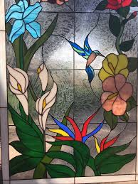 stained glass hummingbird designs