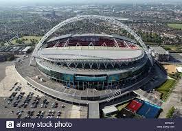 Luftaufnahme des Wembley Stadium ...
