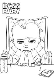 Small Picture Boss Baby coloring page Free Printable Coloring Pages