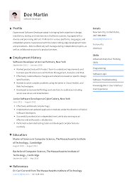 Software System Design Example Software Developer Resume Templates 2020 Free Download