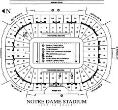 University Of Notre Dame Football Stadium Seating Chart Football Stadium Notre Dame Football Stadium Seating