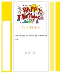 Happy Birthday Blank Ivitation Free Download Cool Blank Birthday