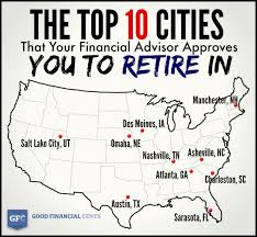 the top cities that your financial advisor approves you to and that s the way it should be if you re moving to another city you re moving there to retire and create a new life not to fold up the tent of your