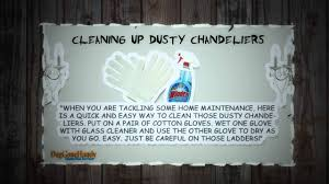 get those dusty chandeliers clean