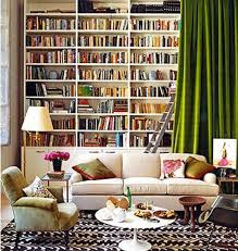 gorgeous bookcase with curtain part of a roundup of wall covering ideas for ers