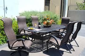 7 piece patio dining set. 7 Piece Outdoor Dining Set Cast Aluminum Patio Furniture Venice 6 Person Seating H