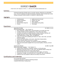 best apprentice plumber resume example livecareer create my resume