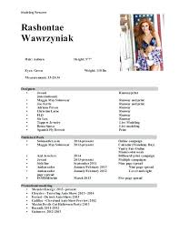 Model Resumes Model Of A Resume Experience Model Resume Model Resume Format