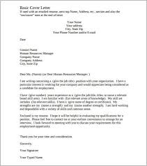 Cover Letter Template Free Sample Resume Letters Job Application
