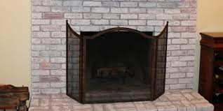 after painted brick fireplace
