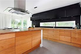 Beautiful Contemporary Dark Wood Kitchen Cabinets With Two Tone