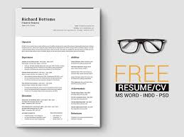 resume templates for indesign free timeless minimal resume cv template with cover letter