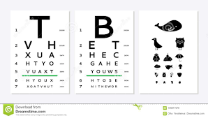 Eyes Test Chart Stock Vector Illustration Of Healthy