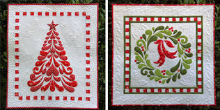 A Quilted Christmas & Feathered Christmas and Feather Fancy by Cherry Blossoms Quilting Studio Adamdwight.com