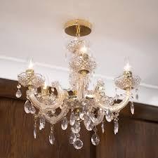 5 light dual mount marie therese modern lighting chandelier brass litecraft