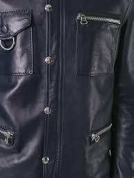 lanvin press stud leather jacket 241 ink blue men clothing jackets catalogo lanvin handbags saks