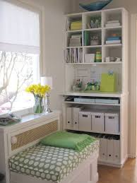 arts crafts home office. Decoration, Adorable Arts And Crafts Home Interiors Combining Office Workspace Room Studio Ideas With White Green Theme Inspired Design Interior I