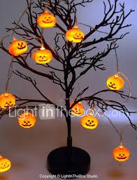Indoor Halloween Lights 1 5m Halloween Pumpkin String Lights With 10 Led Battery