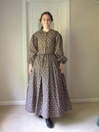 pioneer woman clothing. 1840ish dress - pioneer trek woman clothing
