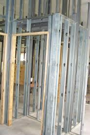 interior metal framing. Extra Studs Around Doors \u2014 Wherever We Are Going To Mount An Interior Door, Metal Framing