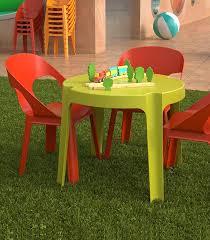 Ensemble 4 chaises et table enfant de jardin en plastique