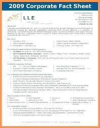 Company Fact Sheet Sample Va Fact Sheets Corporate Fact Sheet Template Company Ideas For