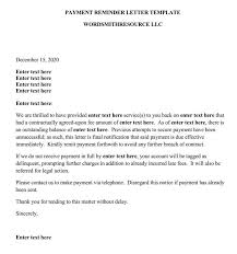 Payment Reminder Letter Format 16 Samples Examples
