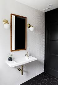 black bathroom door