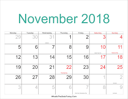november 2018 calendar with holidays msia