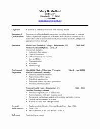 Sample Medical Assistant Resume Medical assistant Resume Template Awesome Useful Medical Field 2