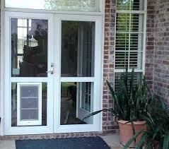 screen door with pet door built in doors inspiring french door with dog door built in screen door with pet