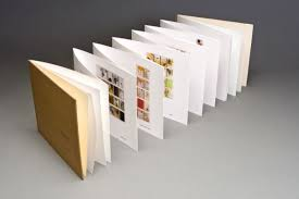 a daily art exploration put into calendar form within an accordion book limited edition accordion fold book 100 cotton rag paper silk book cloth 2007