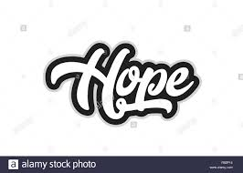 Word Design Hope Hand Written Word Text For Typography Design In Black