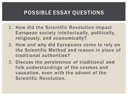 the scientific revolution ppt  possible essay questions