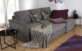 gallery maddox charcoal fabric l shape corner sofa bed rhf ottoman storage