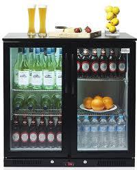 door double glazed bar fridges