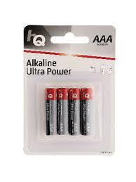HQLR03/<b>4BL</b> Alkaline Primary Battery 15V <b>AAA</b> / <b>LR03</b> Pack of 4 ...