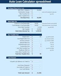 Loan Calculator Template Template Loan Calculator Template Car Spreadsheet Agreement Loan 16