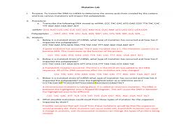 Mutations-worksheet & Worksheets Gene Mutations Worksheet Dna ...