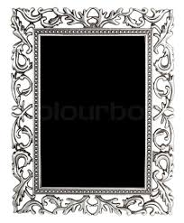 silver antique picture frames. Antique Silver Frame Isolated With Clipping Path, Stock Photo Picture Frames Q